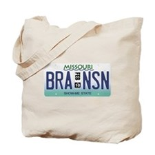 Branson License Plate Tote Bag