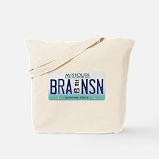 Branson License Plate Tote Bag
