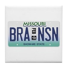 Branson License Plate Tile Coaster