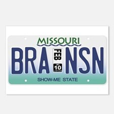 Branson License Plate Postcards (Package of 8)