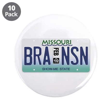 "Branson License Plate 3.5"" Button (10 pack)"