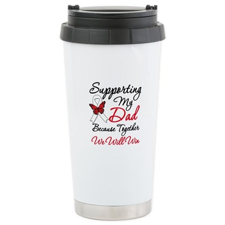 Cancer Support Dad Stainless Steel Travel Mug