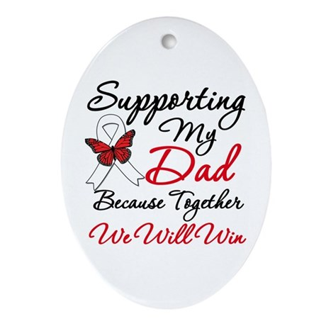 Cancer Support Dad Oval Ornament