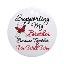Cancer Support Brother Ornament (Round)