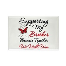 Cancer Support Brother Rectangle Magnet