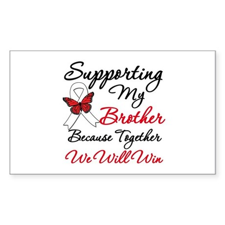 Cancer Support Brother Rectangle Sticker