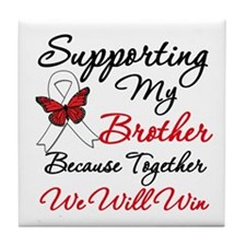 Cancer Support Brother Tile Coaster