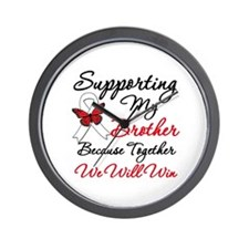 Cancer Support Brother Wall Clock