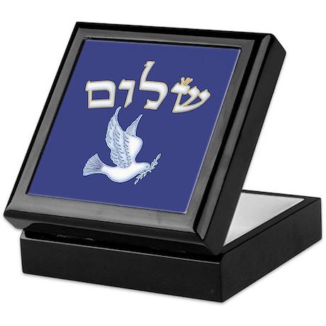 Shalom w/Dove /Bg (Hebrew) Keepsake Box