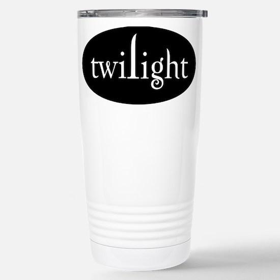 White Twilight Stainless Steel Travel Mug