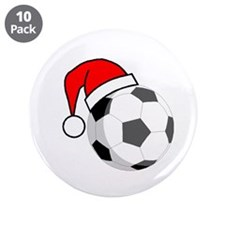 """Soccer Greetings 3.5"""" Button (10 pack)"""