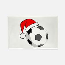 Soccer Greetings Rectangle Magnet