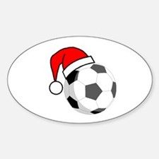 Soccer Greetings Oval Decal