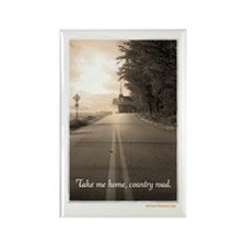 Country Road Rectangle Magnet