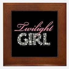 Cute Twilight girl Framed Tile