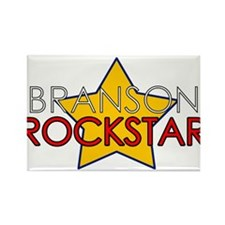 Branson Rockstar Rectangle Magnet (10 pack)