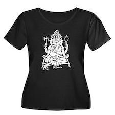 Jai Ganesh (White) Women's Plus Size Dark T-Shirt