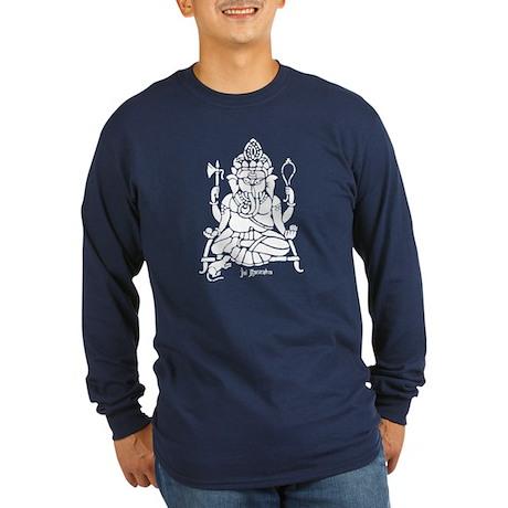 Jai Ganesh (White) Long Sleeve Dark T-Shirt