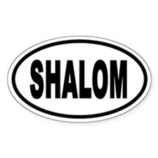 Shalom Euro Style Oval Decal