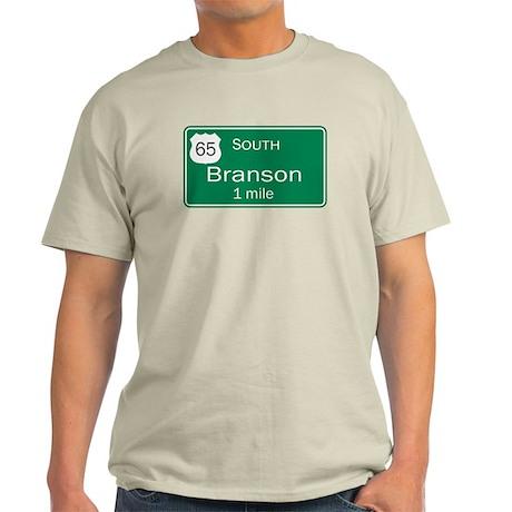 65 South to Branson, Missouri Light T-Shirt