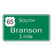 65 South to Branson, Missouri Postcards (Package o