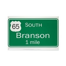 65 South to Branson, Missouri Rectangle Magnet