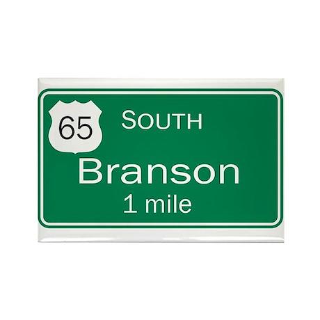 65 South to Branson, Missouri Rectangle Magnet