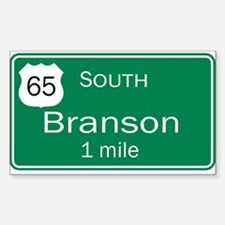 65 South to Branson, Missouri Rectangle Decal