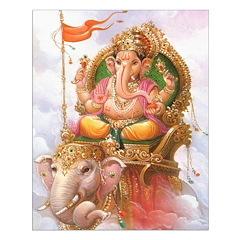 Ganesh on Elephant Unframed Print