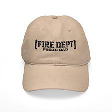 Proud Dad Fire Dept Baseball Cap