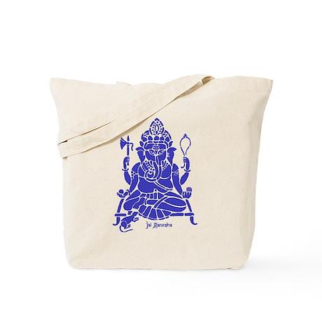 Jai Ganesh (Blue) Tote Bag