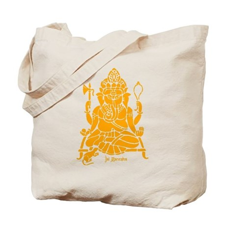 Jai Ganesh Blue and Orange Tote Bag