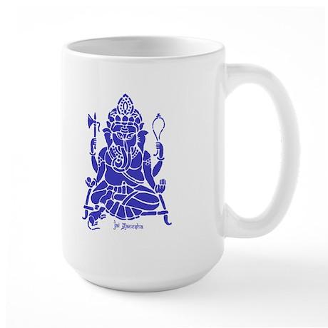Jai Ganesh (Blue) Large Mug