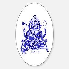 Jai Ganesh (Blue) Oval Decal