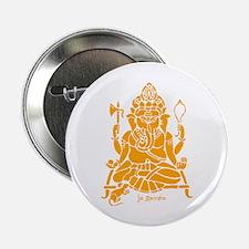 """Jai Ganesh (Orange) 2.25"""" Button"""