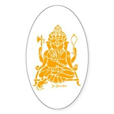 Jai Ganesh (Orange) Oval Decal