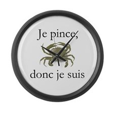 Je pince... Large Wall Clock