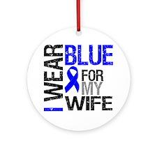 I Wear Blue Wife Ornament (Round)