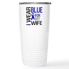 I Wear Blue Wife Travel Mug