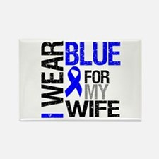 I Wear Blue Wife Rectangle Magnet