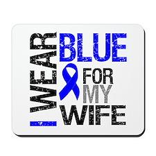 I Wear Blue Wife Mousepad