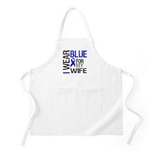 I Wear Blue Wife BBQ Apron