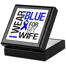 I Wear Blue Wife Keepsake Box