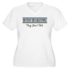 They Don't Talk Women's Plus Size V-Neck T-Shirt