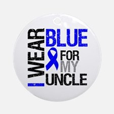 I Wear Blue Uncle Ornament (Round)