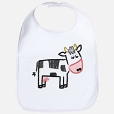 Cute Moo Cow Bib