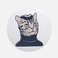 Sophisti-Cat Ornament (Round)
