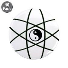 "Ying Yang 3.5"" Button (10 pack)"