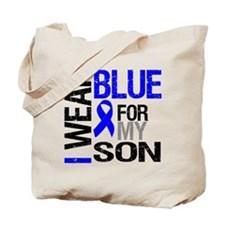 I Wear Blue Son Tote Bag