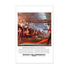 Vintage Republic Steel Workers Posters